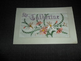 Carte Brodée ( 140 )  Geborduurde Kaart   Sainte - Catherine - Brodées