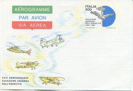 ITALIA - AEROGRAMMA 1981 - AVIAZIONE LEGGERA DELL'ESERCITO - 6. 1946-.. Repubblica