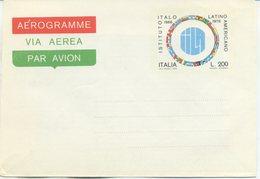ITALIA - AEROGRAMMA 1976 - ISTITUTO ITALO-LATINO  AMERICANO - 6. 1946-.. Repubblica