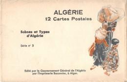 Algérie / 10386 - Série De 12 Cpa Dans Pochette Origine - Ilustrations - Algérie