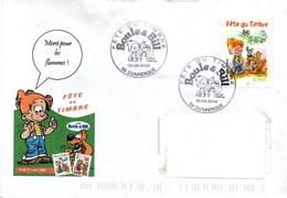 Dunkerque 2002 - Fête Du Timbre - Boule & Bill - Chien BD - Marcophilie (Lettres)