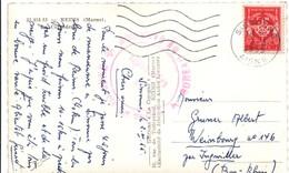Sissonne 1955 Aisne - Bureau De Garnison & Timbre FM - Marcophilie (Lettres)