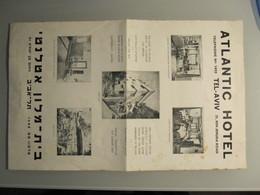 ISRAEL PALESTINE HOTEL ATLANTIC TEL AVIV MULTIFOLD BROCHURE DESIGN BOOKPLATE - Manuscripts