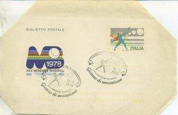 ITALIA - BIGLIETTO  POSTALE 1978 - MONDIALI DI BASEBALL - FDC - ANNULLO SPECIALE PARMA - 6. 1946-.. Repubblica