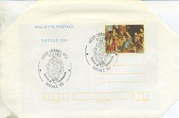 ITALIA - BIGLIETTO POSTALE 1983 - NATALE - ARTE - ADORAZIONE DEI MAGI - RAFFAELLO - ANNULLO SPECIALE - FDC - 6. 1946-.. Repubblica