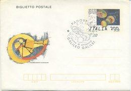 ITALIA - BIGLIETTO  POSTALE 1992 - GALILEO GALILEI - ANNULLO SPECIALE - FDC - 6. 1946-.. Repubblica