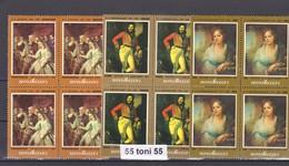 1982, Russian Painting  Mi 5161-5163 3v- MNH Block Of Four  USSR - Arte