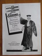 (1930)   Magistrat Juge Avocat - Publicité Ste Fse Chaleur Et Lumière      - Page Originale Vintage - Documents Historiques