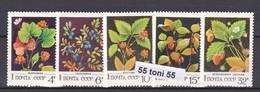 1982 Flora Berry Plant (Mi-5155/59) 5v.-MNH  USSR - Frutas
