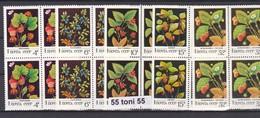 1982 Flora Berry Plant (Mi-5155/59) 5v.-MNH Block Of Four   USSR - Frutas