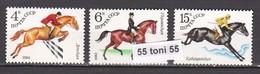 1982 Horse Riding (Mi5148/50) 3v.-MNH  USSR - Hípica