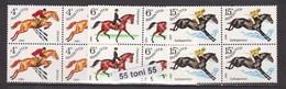 1982 Horse Riding (Mi5148/50) 3v.-MNH  Block Of Four   USSR - Hípica