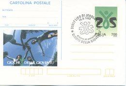 ITALIA - INTERO POSTALE 1993 - GIOCHI DELLA GIOVENTU' - FDC JESOLO - 6. 1946-.. Repubblica