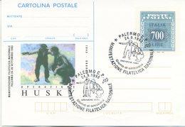 ITALIA - INTERO POSTALE 1993 - OPERAZIONE HUSKY - FDC PALERMO - 6. 1946-.. Repubblica
