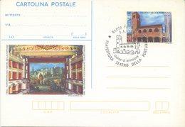ITALIA - INTERO POSTALE 1998 - TEATRO DELLA FORTUNA - FANO - FDC - SPECIAL CANCEL - 6. 1946-.. Repubblica