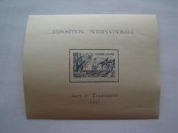 1937 Guadeloupe Yv BF 1 ** MNH   Bateaux Ships  Cote 13.00 € Michel B1 Expo De Paris - Guadeloupe (1884-1947)