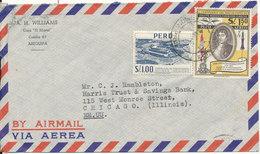 Peru Air Mail Cover Sent To USA - Peru