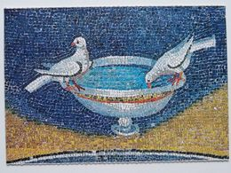 Drinking Pidgeons  /   Ravenna Galia Placidia  V C  /  Italy - Musées