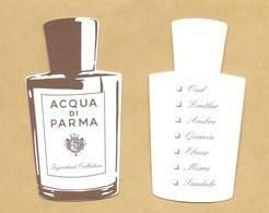 Carte Parfumée Replica Perfume Card INGREDIENT COLLECTION * ACQUA DI PARMA * R/V - Cartes Parfumées