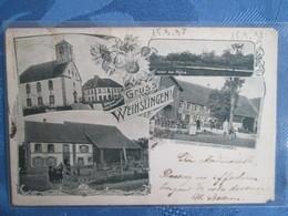 Gruss Aus  Weihslingen . Maison Forestiere .1898  Rare - France