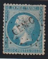 YT 22 Obl 20c Bleu, Oblitération CEMC, Corps Expéditionnaire Au Mexique, Quelques Dents Courtes, B - France