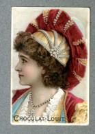 Chromo Louit COIFFURE FEMME MODE FASHION HAT LADY Victorian Trade Card - Louit