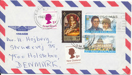 New Zealand Air Mail Cover Sent To Denmark Christchurch 9-11-1981 Topic Stamps - Airmail