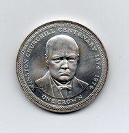 Gran Bretagna - Isola Di Man - 1974 - 1 Crown - Winston Churcill - (Vedi Foto) - (MW2085) - Monete Regionali