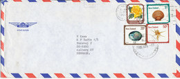 New Zealand Air Mail Cover Sent To Denmark Dunedin 28-10-1982 - Airmail