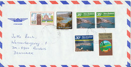 New Zealand Air Mail Cover Sent To Denmark Hamilton 13-9-1988 - Poste Aérienne