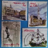 France 2007  : Capitales Européennes, Bruxelles N° 4073 à 4076 Oblitéré - Usados
