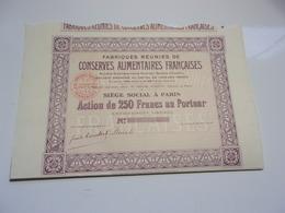 Fabriques Réunies De Conserves Alimentaires Françaises - Non Classés
