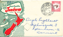 New Zealand FDC 5-1-1959 Pan Pacific Jamboree With Cachet Sent To Denmark - FDC