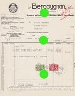 EVERGEM RABOT Lez GAND / Pneus Caoutchouc BERGOUGNAN 1938 - Belgique