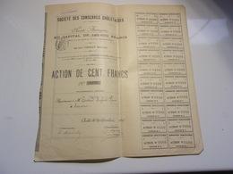 CONSERVES CHOLETAISES (1895) Cholet,maine Et Loire - Actions & Titres