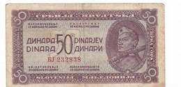 YUGOSLAVIA 50 DINARA 1944****532 - Yougoslavie