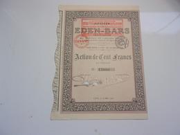 EDEN BARS (1922) Lyon - Non Classés