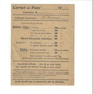 CARNET DE PAIN  COMMUNE DE CHEMINON *****  A   SAISIR   ***** - Vieux Papiers