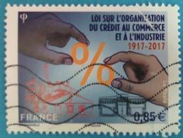 France 2017 : Centenaire De La Loi Sur L'organisation Du Crédit Au Commerce Et à L'Industrie N° 5132 Oblitéré - France