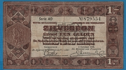NEDERLANDEN  1 Zilverbon 01.10.1938Serie # AO 87955489  P# 61 Ministerie Van Financiën - [3] Emissions Ministerie Van Oorlog