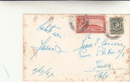 Gibilterra Per Genova, Post Card 1947  Una Piega E Fioriture. - Gibilterra