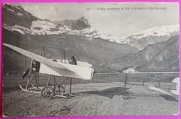 Cpa Passy Aviation Col D'Anterne Carte Postale 74 Haute Savoie Rare Cachet Passy Mont Blanc Aérodrome Contrôle - Passy