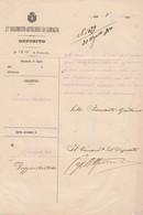 13 REGGIMENTO ARTIGLIERIA DA CAMPAGNA - Deposito Di Roma 1910 - POGGIO MIRTEDO - Vecchi Documenti