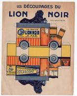 (jeu) Carton à Découper Et Assembler Offert Par LION NOIR  (PPP10342) - Advertising