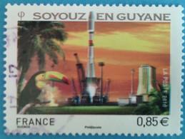 France 2010 : Espace, Décollage De La Fusée Russe Soyouz En Guyanne N° 4458 Oblitéré - France