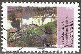 France - 2013 - La Rivière Blanche De Paul Gauguin - YT Adhésif 831 Oblitéré - France