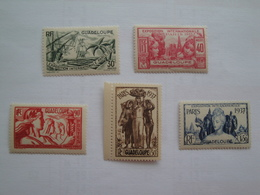1937 Guadeloupe Yv 134/8 ** MNH  Expo Paris Cote 13.50 € Michel 138/42 Scott 149/53  SG 158/62 - Guadeloupe (1884-1947)