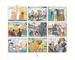 Bloc Bande Dessinée - 9 BD Différentes (dont La Fusée Tintin) - Bloc 81 (Timbres 2841/49)  - Feuillet Neuf - Philabédés (comics)