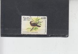 SRI LANKA  1993 - Yvert  1027 - Uccello - Sri Lanka (Ceylon) (1948-...)