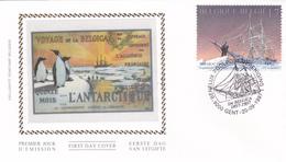 FDC Sur Soie/op Zijde - Expédition Antarctique Belgica Timbre N° 2726 - FDC